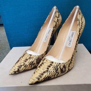 New Auth Jimmy Choo Python Snakeskin Heels